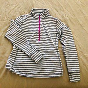 Lucy Jog for Joy Half Zip Striped Pullover SZ S